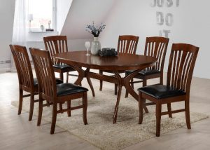 Brittany Dining Set - Walnut