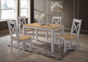 Rochester 4' Dining Set - Grey