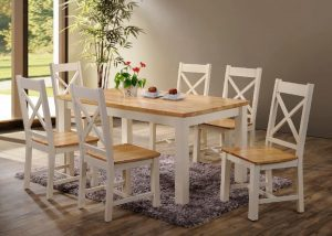 Rochester 5' Dining Set - Cream