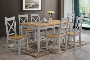 Rochester 5' Dining Set - Grey