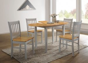 Thames Extending Dining Set - Grey