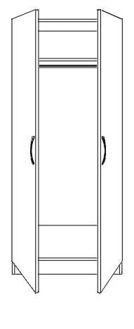 Nile 2 Door Wardrobe
