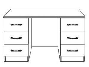 Shannon Double Dressing Table