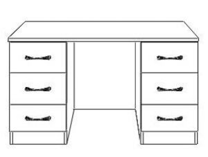 Rio Double Dressing Table