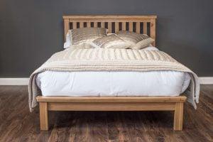 "Manhattan 4'6"" Oak Bed"
