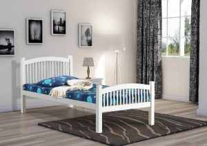 Carla single bed white 2