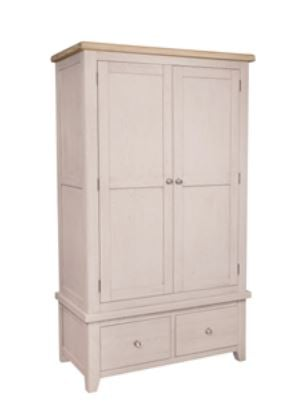 Salou Double Wardrobe with Drawers