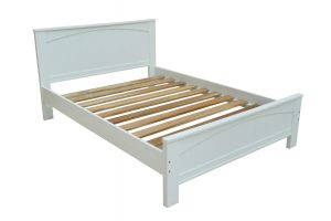 "Douglas White Panel 4'6"" Bed"