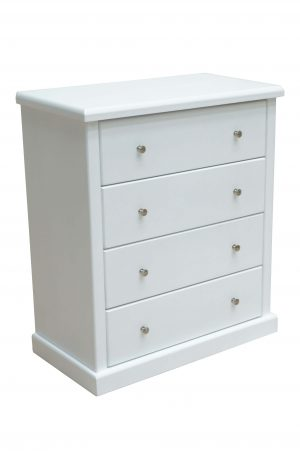 Douglas White 4 Drawer Chest