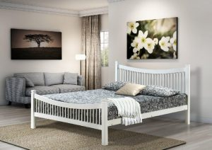Jordan white double bed 4