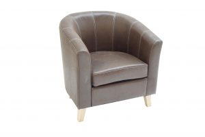 Madrid Brown Fabric Chair