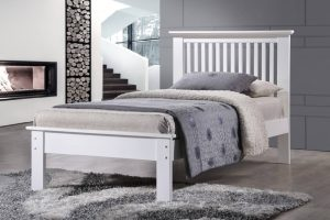 Roma Single Bed - White