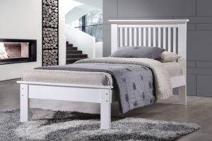 Roma Single Bed - White