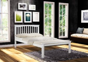 "Sandra 4'6"" Bed - White"