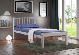 Sandra single Light Grey Bed 8