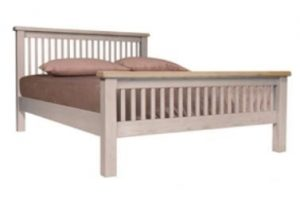 "Salou 4'6"" Slatted Bed"