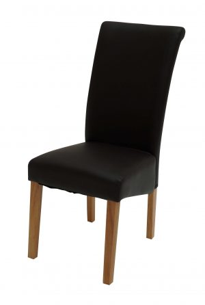 Sydney Walnut Leg Black Chair