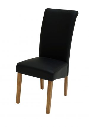 Sydney Oak Leg Brown Chair