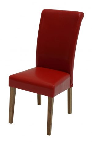Sydney Oak Leg Red Chair