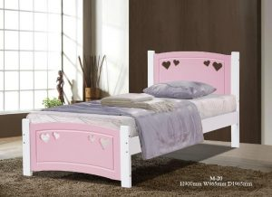 Vogue single bed pink white 2
