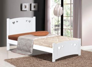 Vogue Single Bed - White