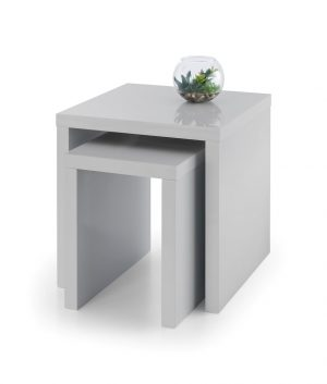 Metro Grey Hi Gloss Nest of Tables
