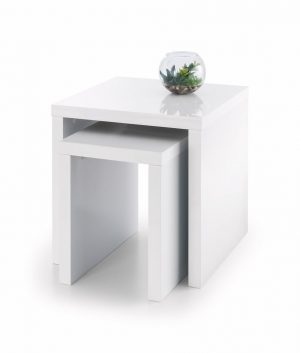 Metro White Hi Gloss Nest of Tables