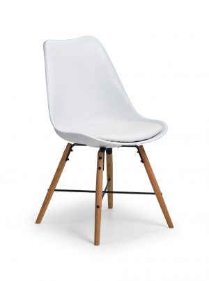 Kari Dining Chair - White/Oak
