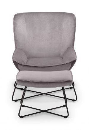 Mila Velvet Accent Chair - Grey