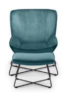 Mila Velvet Accent Chair - Teal
