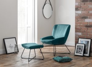 Mila Velvet Accent Chair - Teal