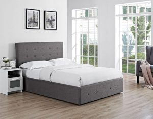 "Chanel 4'6"" Ottoman Upholstered Bed"