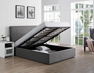 """Chanel 4'6"""" Ottoman Upholstered Bed"""
