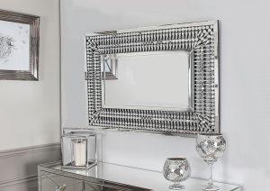 Crystal Rectangular Mirror
