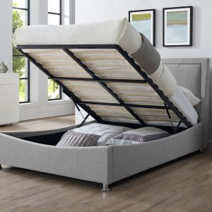 Emelia 5' Ottoman Upholstered Bed