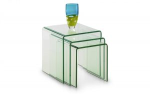 Amalfi Bent Glass Nest of Table