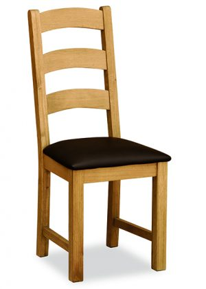 Salisbury Ladder Dining Chair with PU Seat