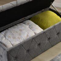 Kilkenny Grey Blanket Box