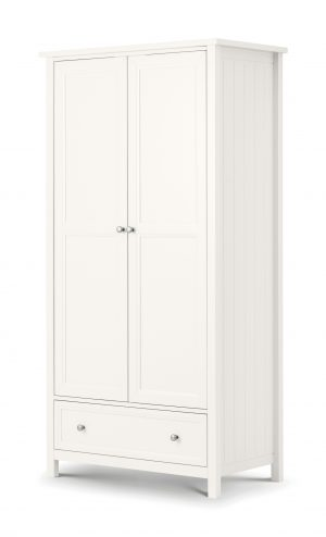 Maine Surf White 2 Door Combination Wardrobe