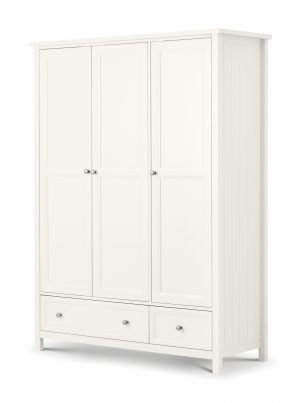 Maine Surf White 3 Door Combination Wardrobe