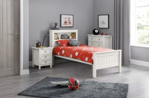 Maine Surf White 3' Bookcase Bed