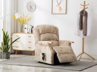 Padstow Lift & Tilt Chair - Beige / Peach