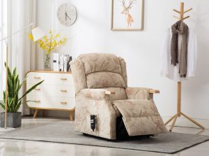 Padstow Lift & Tilt Chair - Beige / Peach