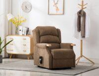 Padstow Lift & Tilt Chair - Brown Herringbone