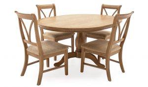 Carmen Fixed Round Dining Table