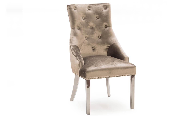 Belvedere Dining Chair Champagne Velvet