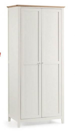 Salerno Two Tone 2 Door Wardrobe