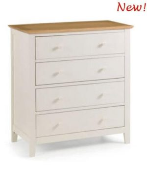 Salerno Two Tone 4 Drawer Chest