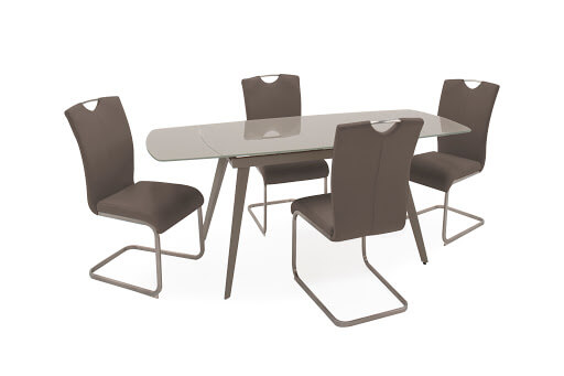 Sabina Extending Dining table Cappuccino