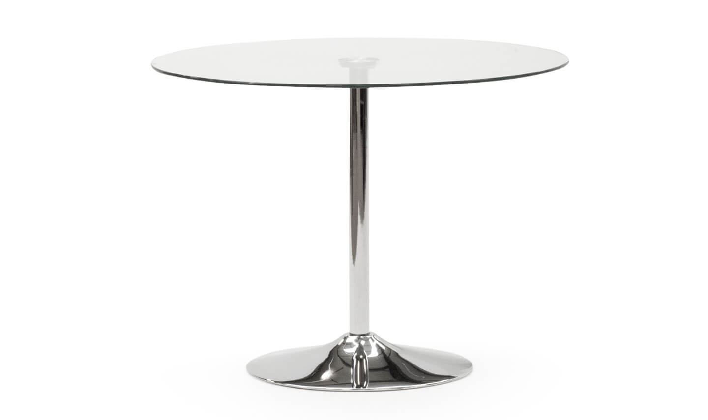 Orbit Dining Table Silver 90cm